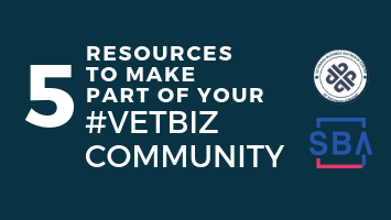 5 Resources to make part of your #vetbiz community